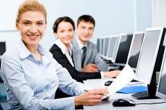 Erfolgreiche Kursteilnehmer Stockfoto