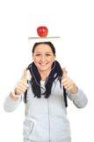 Erfolgreiche Kursteilnehmerfrau Lizenzfreie Stockbilder