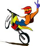 Erfolgreiche Motorradfahrerillustration Stockbild