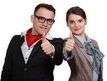 Erfolgreiche Paare Stockfoto