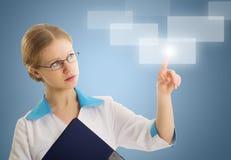 Erfolgreiche Person, erfinderische Technologien Lizenzfreies Stockfoto