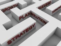 Erfolgreiche Strategie - Labyrinth Stockbild