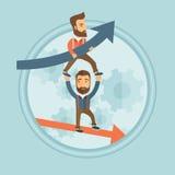 Erfolgreiche und bankrotte Geschäftsmänner Lizenzfreies Stockfoto