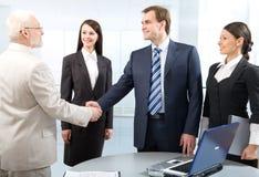 Erfolgreiche Vermittlungen Lizenzfreies Stockbild