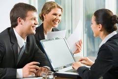 Erfolgreiche Vermittlungen Lizenzfreie Stockfotos