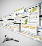 Erfolgreiche Web site vektor abbildung