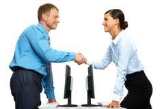 Erfolgreiche Zusammenarbeit stockfotos