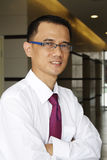 Erfolgreicher asiatischer Geschäftsmann Lizenzfreie Stockbilder