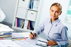 Erfolgreicher Buchhalter Lizenzfreie Stockbilder