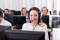 Erfolgreicher Call-Center Stockfoto