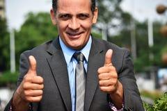 Erfolgreicher erwachsener Geschäftsmann-tragender Anzug und Bindung stockfotografie