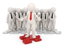 Erfolgreicher führender Vertreter der Wirtschaft und Team - 3d Lizenzfreie Stockbilder