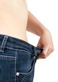 Erfolgreicher Gewichtverlust Stockfoto
