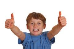 Erfolgreicher Junge Lizenzfreie Stockbilder