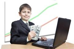 Erfolgreicher Junge Lizenzfreie Stockfotos