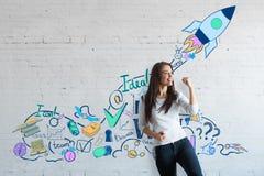 Erfolgreicher junger Unternehmer stockfotos