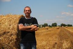 Erfolgreicher Landwirt stockbild