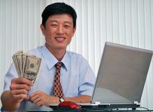 Erfolgreicher Manager im Büro Stockbilder