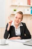Erfolgreicher Manager mit einer guten Idee Lizenzfreie Stockfotos