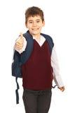 Erfolgreicher Schulejunge stockfoto