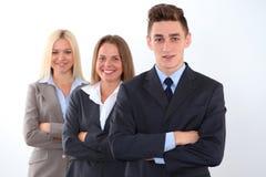 Erfolgreicher Teamleiter Die goldene Taste oder Erreichen für den Himmel zum Eigenheimbesitze lizenzfreies stockbild