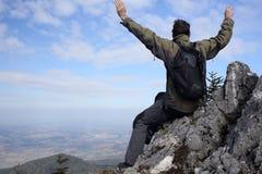 Erfolgreicher Wanderer Stockbild