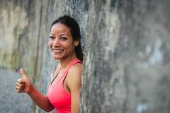 Erfolgreicher weiblicher Athlet Stockfoto
