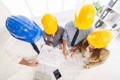 Erfolgreiches Architekten-Team Stockfoto