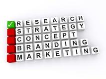 Erfolgreiches Geschäft basiert auf Forschung Stockbild