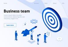 Erfolgreiches Geschäft Team Management Service Banner vektor abbildung