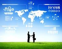 Erfolgreiches Geschäft Team Planning Outdoors Stockfoto