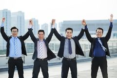 Erfolgreiches Geschäfts-Team stockfotos