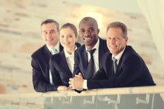 Erfolgreiches Geschäfts-Team stockbild