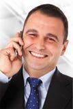 Erfolgreiches Geschäftsgespräch Lizenzfreies Stockbild