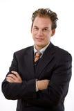 Erfolgreiches Geschäftsmannlächeln Stockfotos