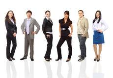 Erfolgreiches glückliches Geschäftsteam Lizenzfreie Stockbilder