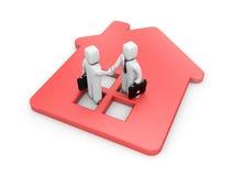 Erfolgreiches Immobilienabkommen Stockbilder