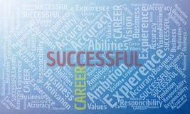 Erfolgreiches Karrierewort-Wolkenkonzept Stockfotografie