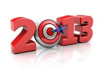 Erfolgreiches neues Jahr Stockbild