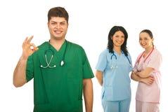 Erfolgreiches Team der Doktoren Stockbild