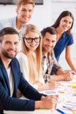 Erfolgreiches und kreatives Team Stockbilder