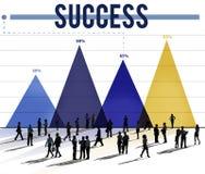 Erfolgs-erfolgreiches Leistungs-Ziel Victory Concept Lizenzfreie Stockfotos