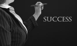 Erfolgs-Geschäftsfrau Lizenzfreies Stockfoto