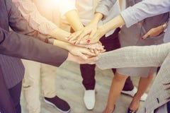 Erfolgs-Geschäftsleute Teamwork Konzept-, Geschäftsmann und busine lizenzfreie stockbilder