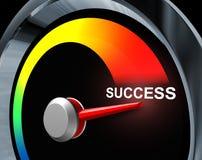 Erfolgs-Geschwindigkeitsmesser Lizenzfreies Stockfoto