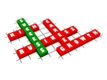 Erfolgs-Kreuzworträtsel stock abbildung