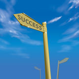 Erfolgs-Methoden-blauer Himmel 01 Lizenzfreies Stockfoto