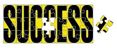 Erfolgs-Puzzlespiel lizenzfreie abbildung
