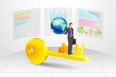 Erfolgs-Schlüssel des Geschäfts stock abbildung