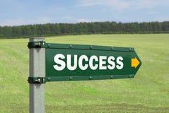 Erfolgs-Zeichen Stockbild